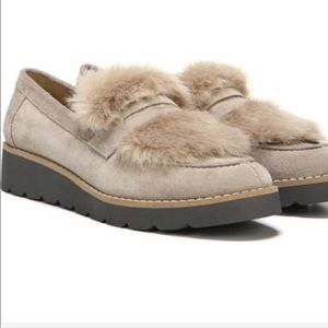Sarto Franco Cyrus loafers faux fur trim size 7.5